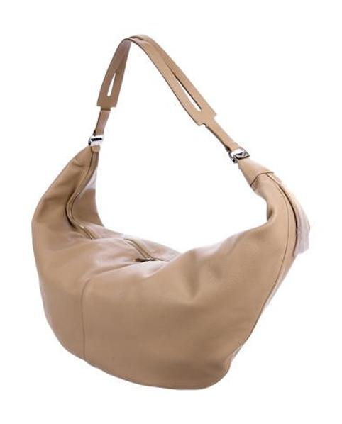 931231bb177 Lyst - The Row Sling Hobo Bag Tan in Metallic