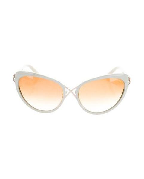 9430cefdeb Lyst - Tom Ford Daria Cat-eye Sunglasses in White