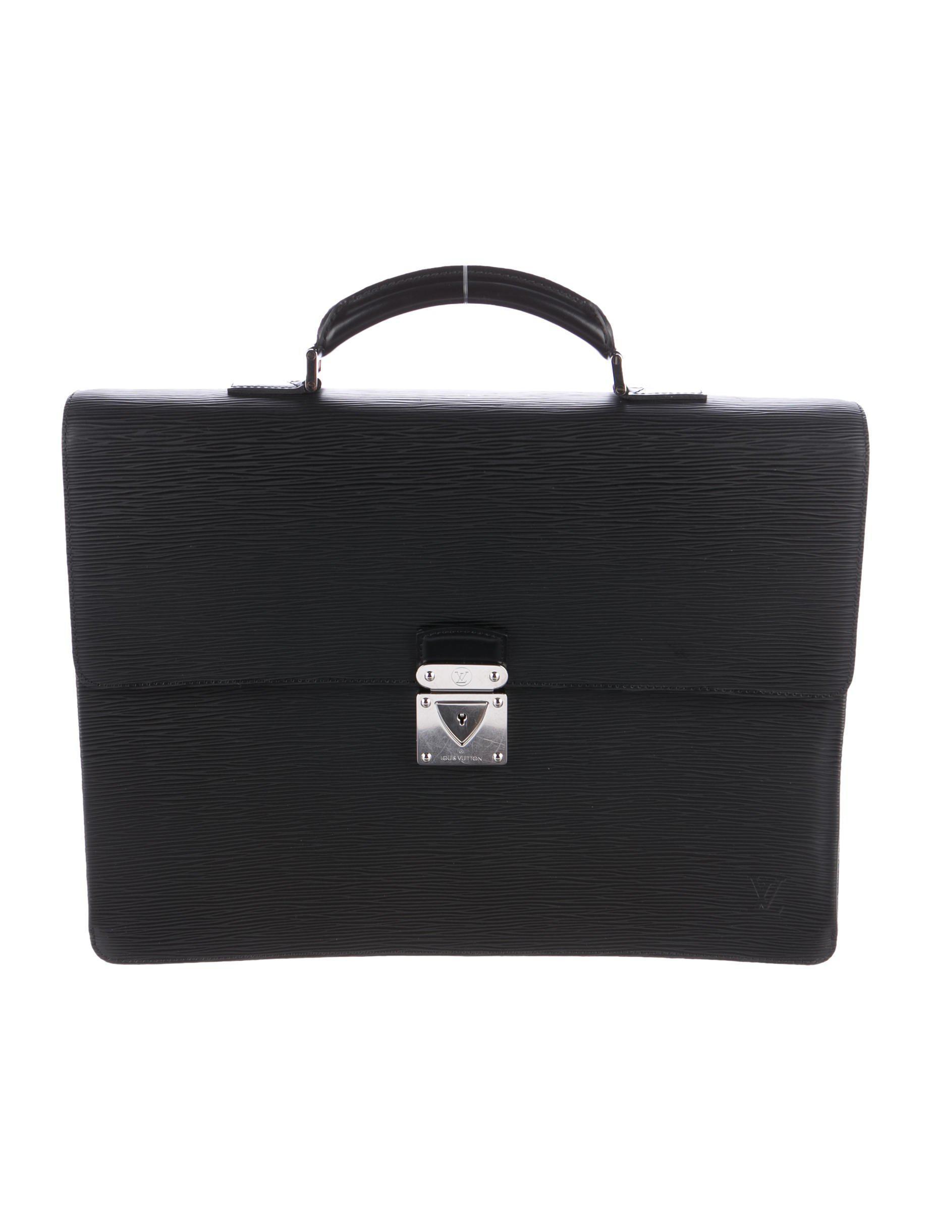 Louis Vuitton. Metallic Epi Robusto 2 Compartment Briefcase Black