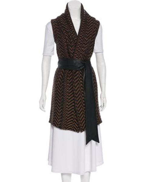 Lyst - Elizabeth And James Belted Knit Vest in Brown e91a267ed