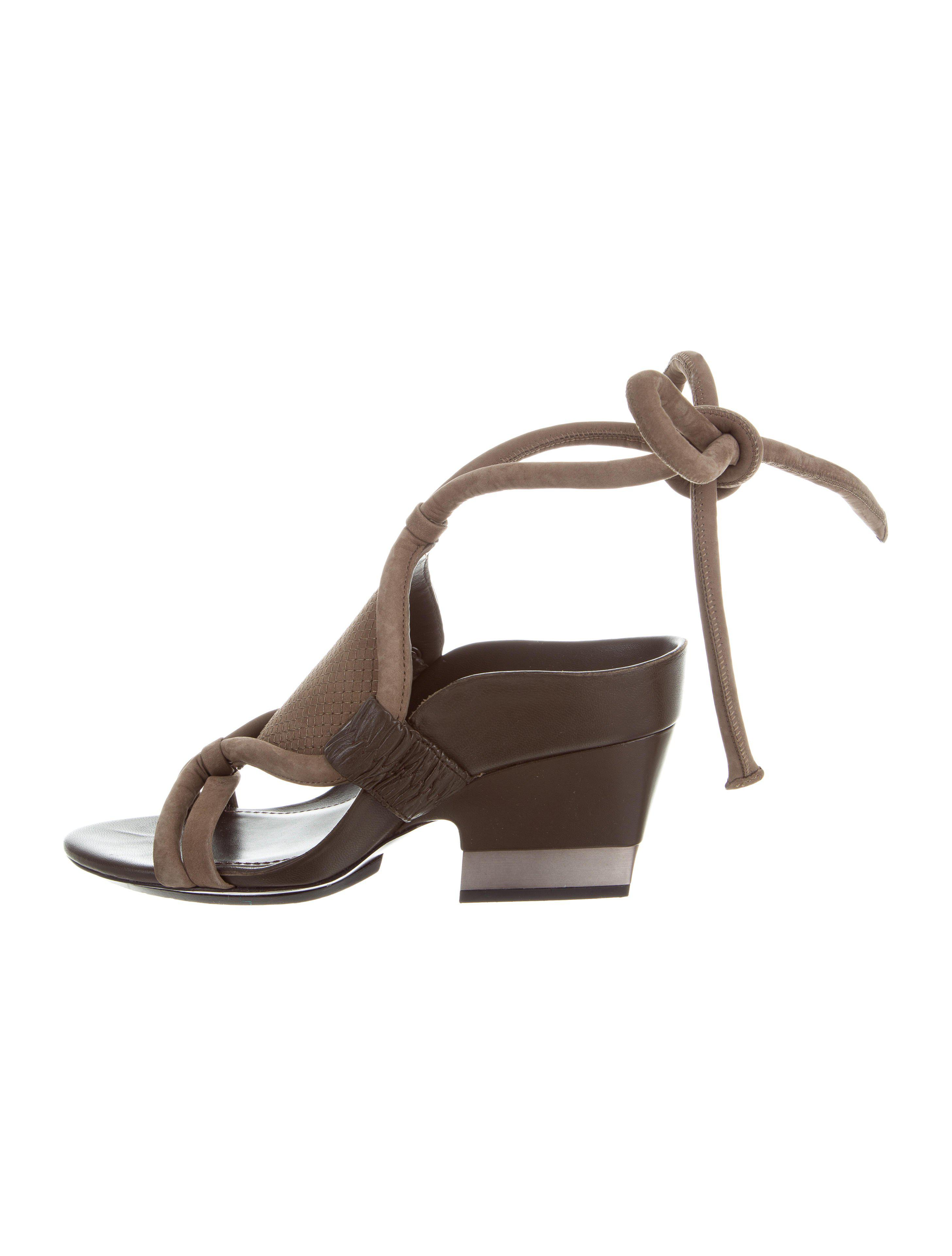 cheap sale excellent 3.1 Phillip Lim Nubuck Wrap-Around Sandals outlet clearance largest supplier cheap price for sale wholesale price igAEQwomI