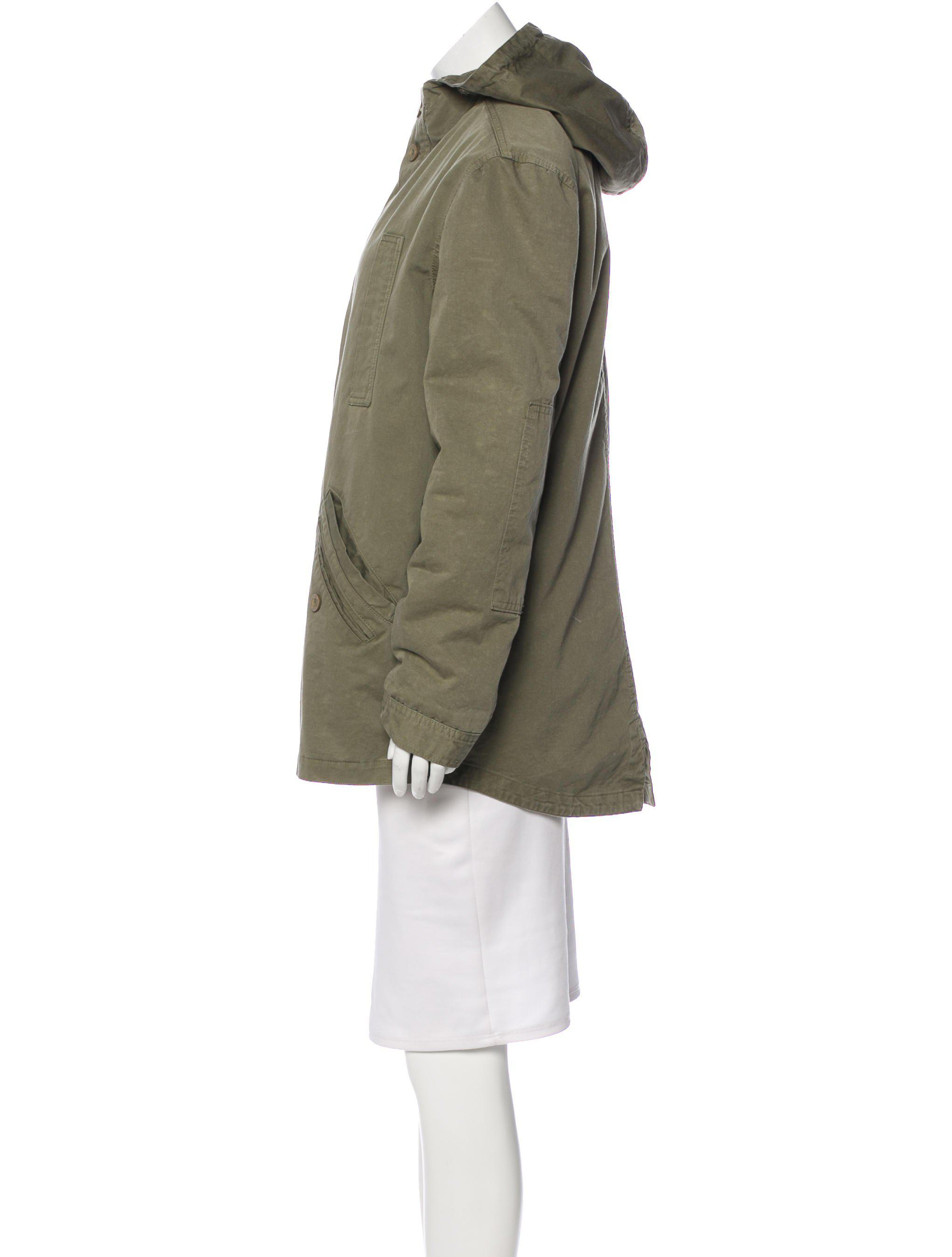 Lyst Anine Bing Hooded Short Coat In Green With Hood