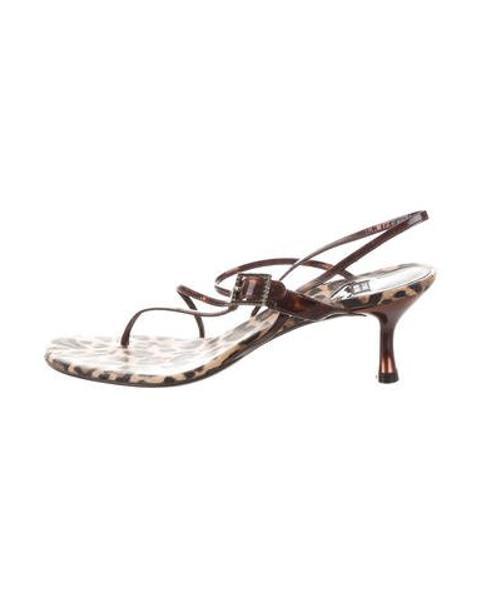 33cd7bbe5495 Lyst - Stuart Weitzman Tortoiseshell Slingback Sandals in Brown