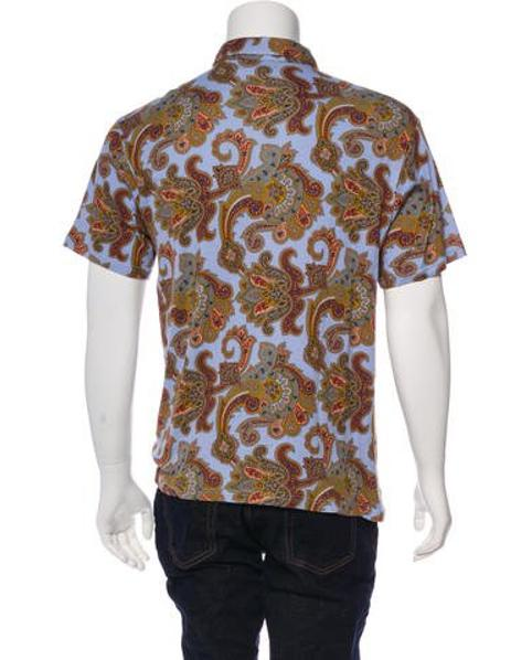 13091ba4ba37 Lyst - Etro Printed Polo Shirt Olive in Green for Men