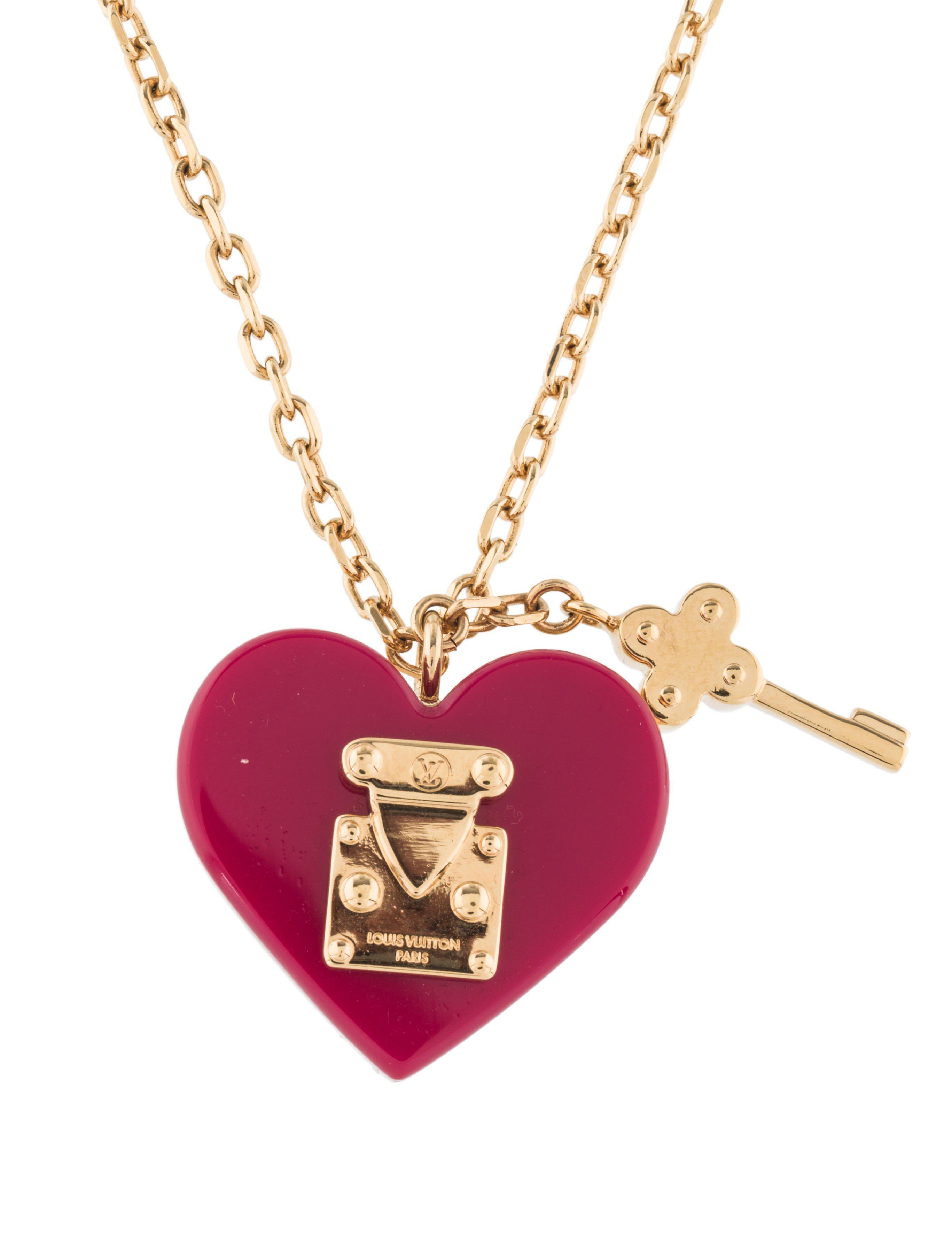 8dde6da03bfc Lyst Louis Vuitton Lock Me Pendant Necklace Gold In Metallic