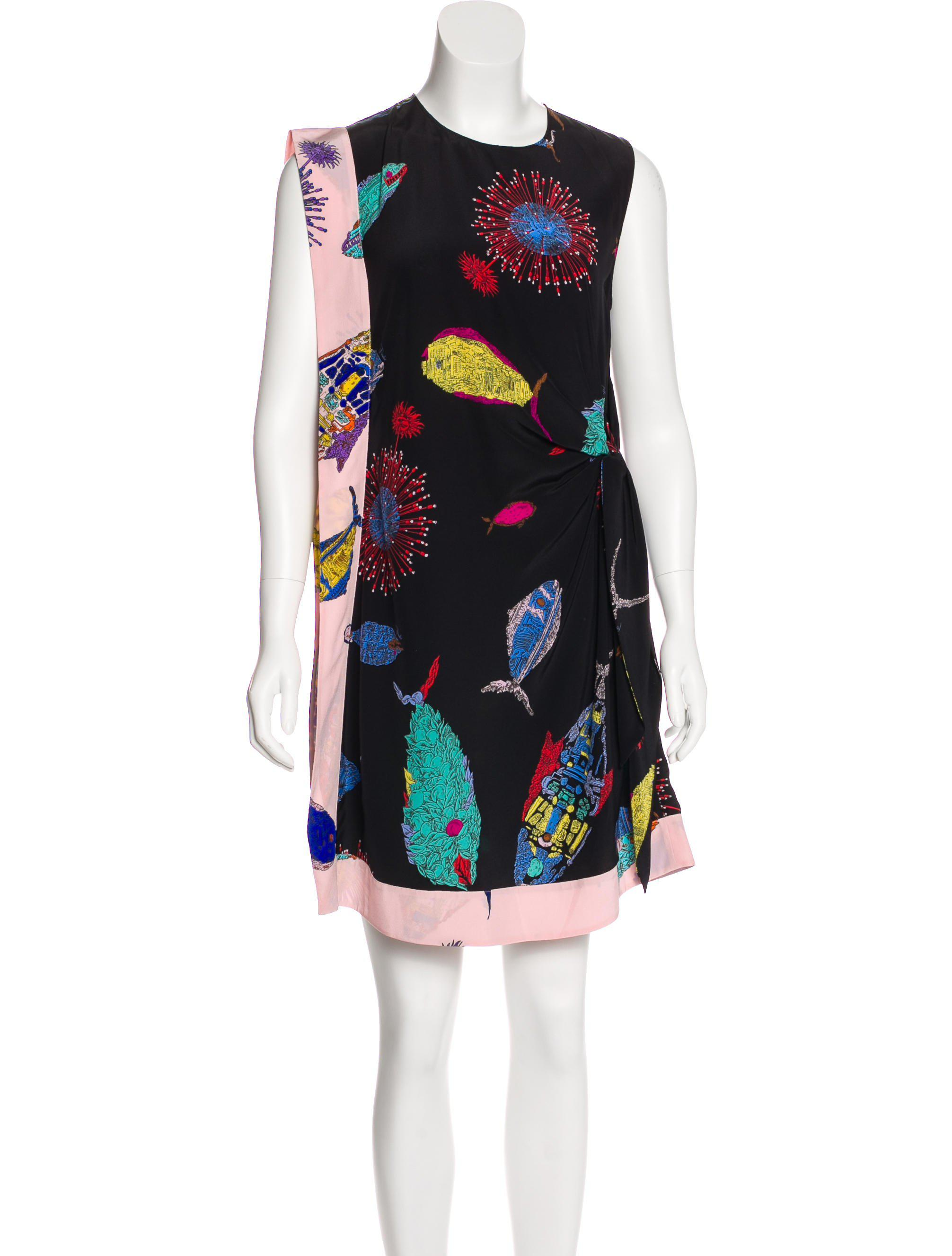 Outlet Lowest Price Emilio Pucci Woman Printed Silk Mini Dress Army Green Size 40 Emilio Pucci Free Shipping Top Quality Cost Sale Professional 5RFznbTWU