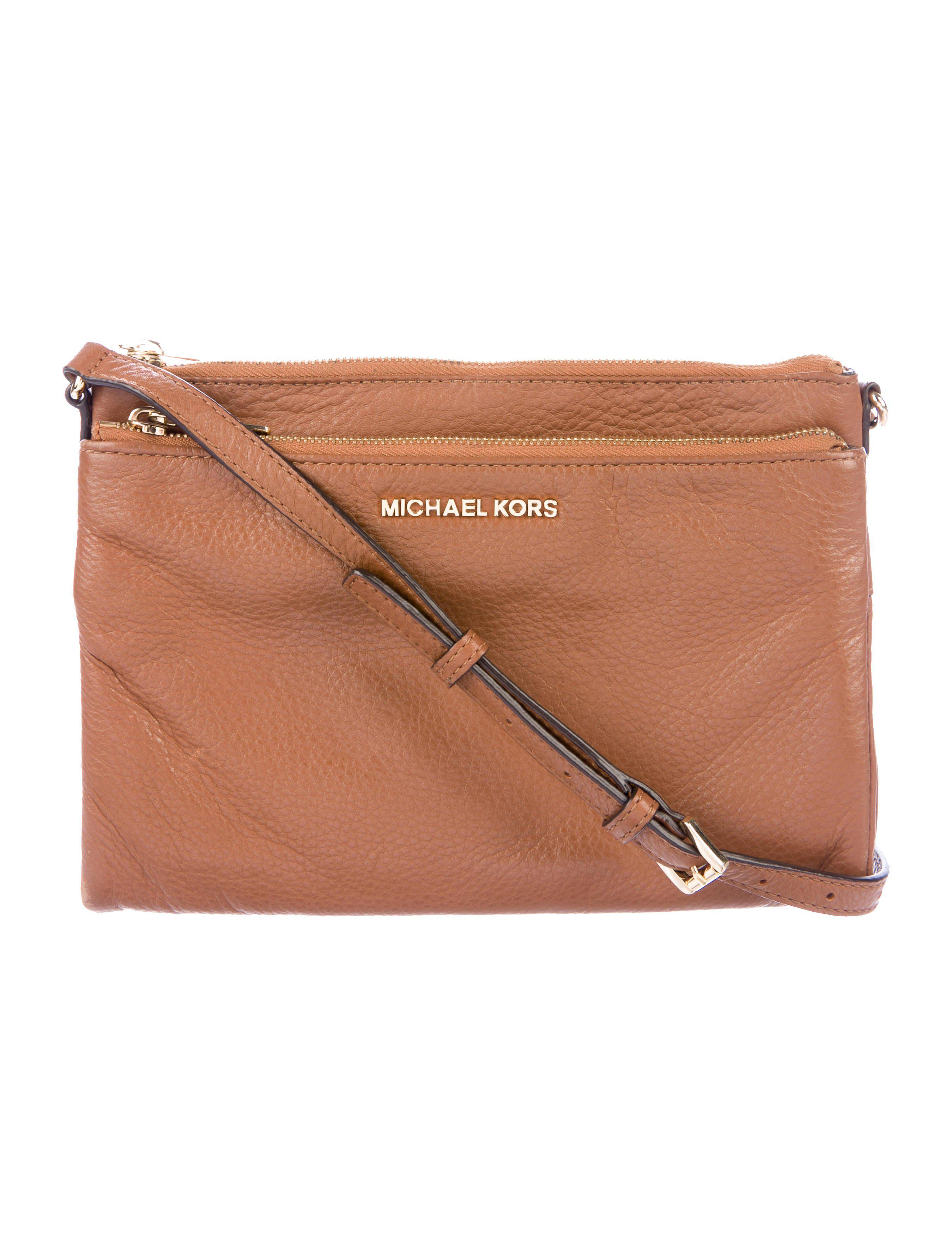 MICHAEL Michael Kors. Women s Metallic Michael Kors Grained Leather  Crossbody Bag Brown f72a4e15cbe2b
