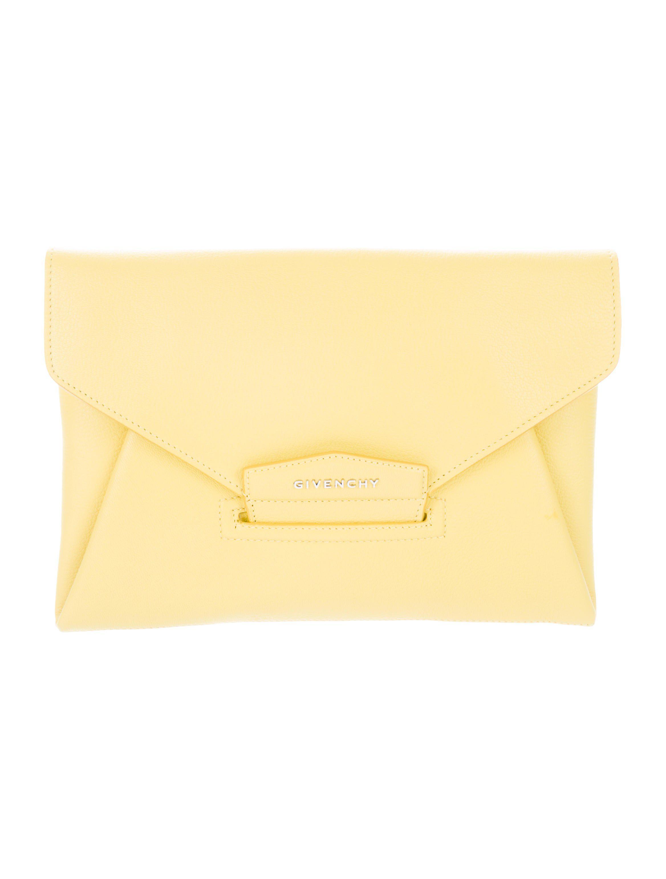 1266236c23 Lyst - Givenchy Antigona Leather Clutch W  Tags Yellow in Metallic