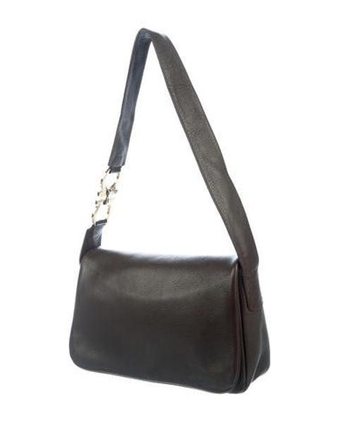 859fb1a5f00 Lyst - Ferragamo Leather Shoulder Bag Gold in Metallic