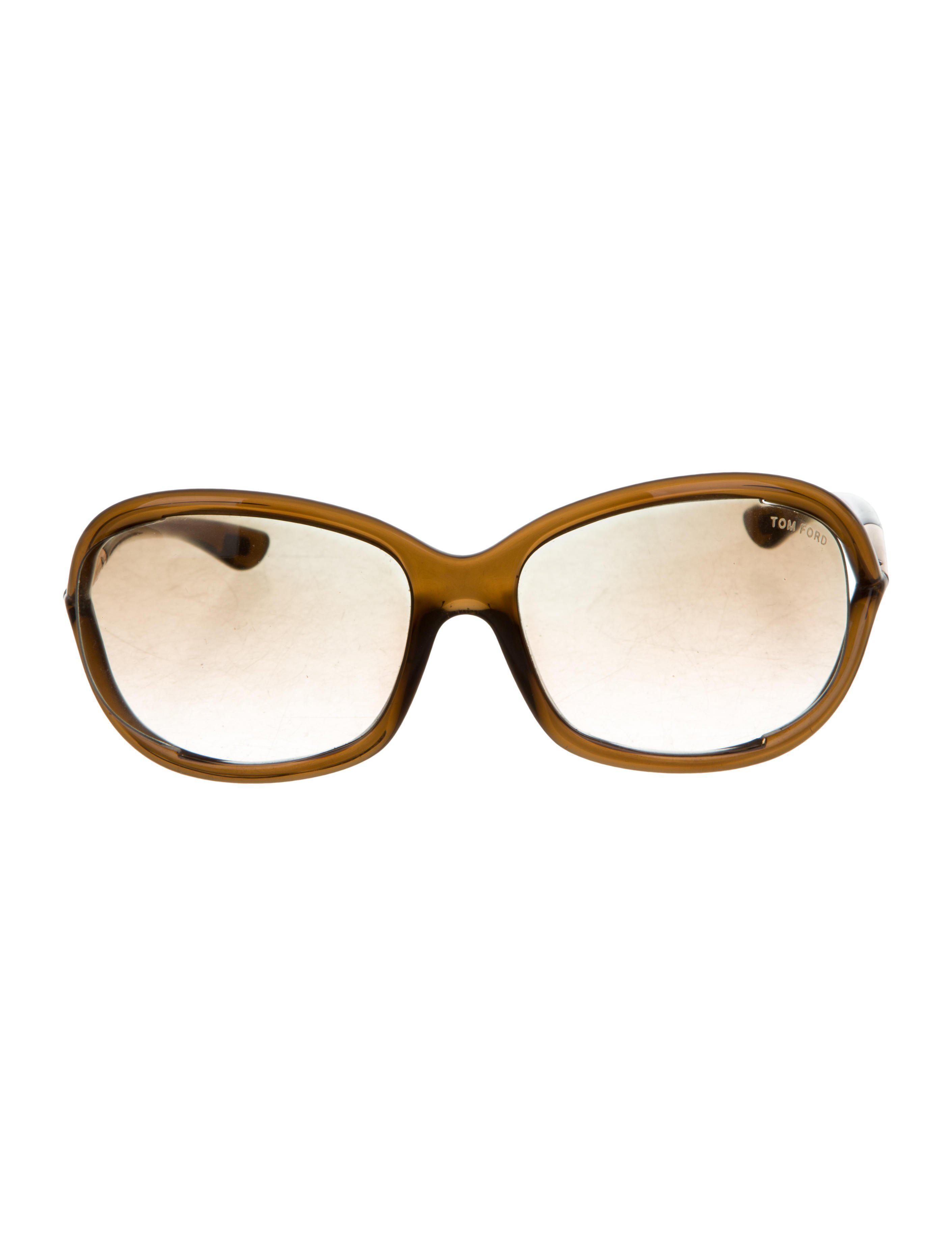 34eb430a4488 Tom Ford - Metallic Jennifer Gradient Sunglasses Brown - Lyst. View  fullscreen
