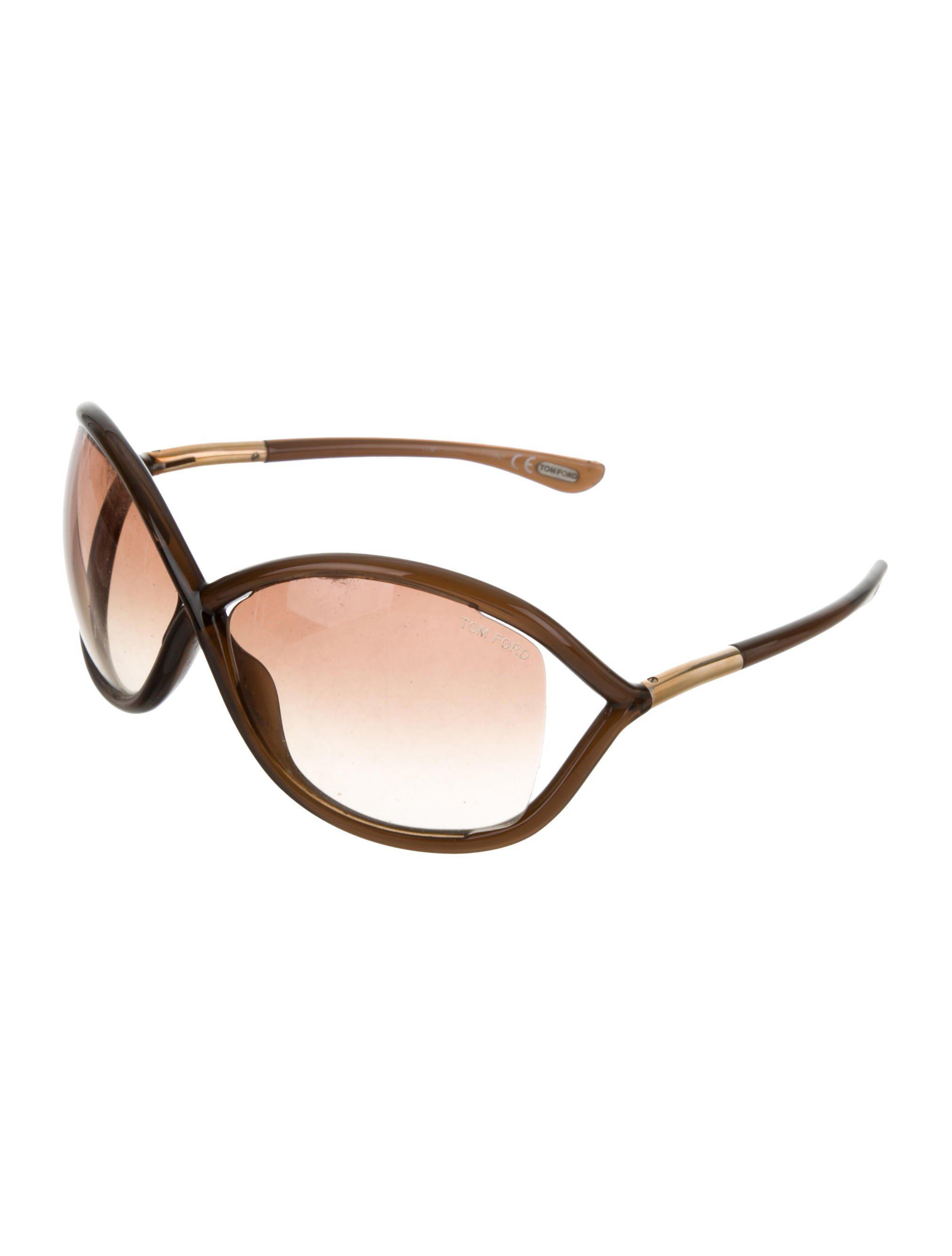 b104907b33 Lyst - Tom Ford Whitney Gradient Sunglasses Transparent in Metallic