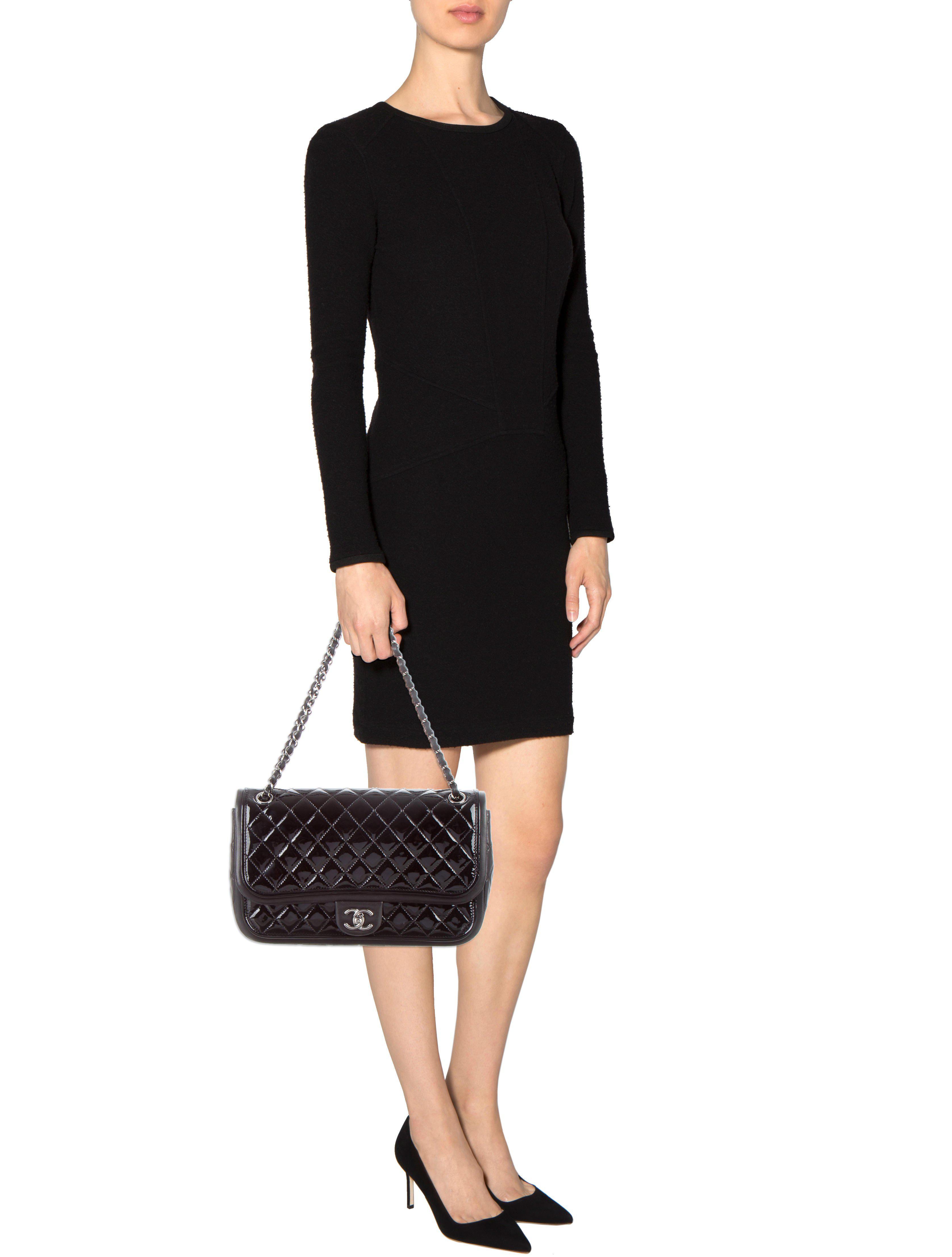 76a45b6dc1 Lyst - Chanel Classic Twist Flap Bag in Black