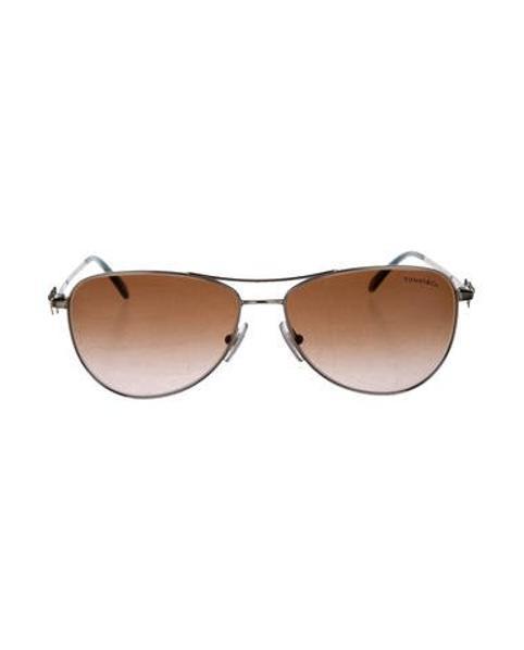2bc1f2d4b2f Lyst - Tiffany   Co Gradient Aviator Sunglasses in Brown