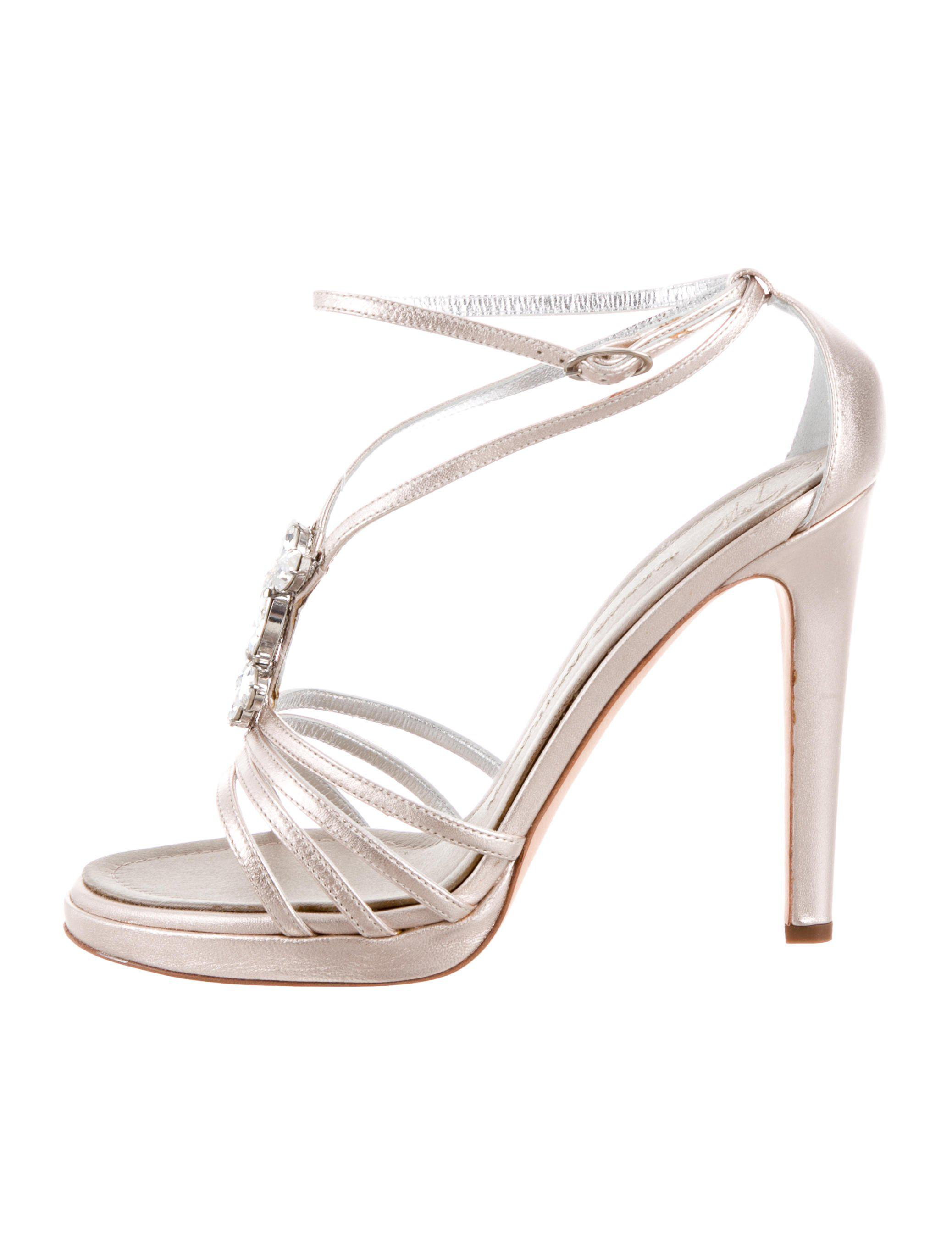 e115cccac4 Lyst - Giuseppe Zanotti Embellished Sandals W/ Tags Gold in Metallic
