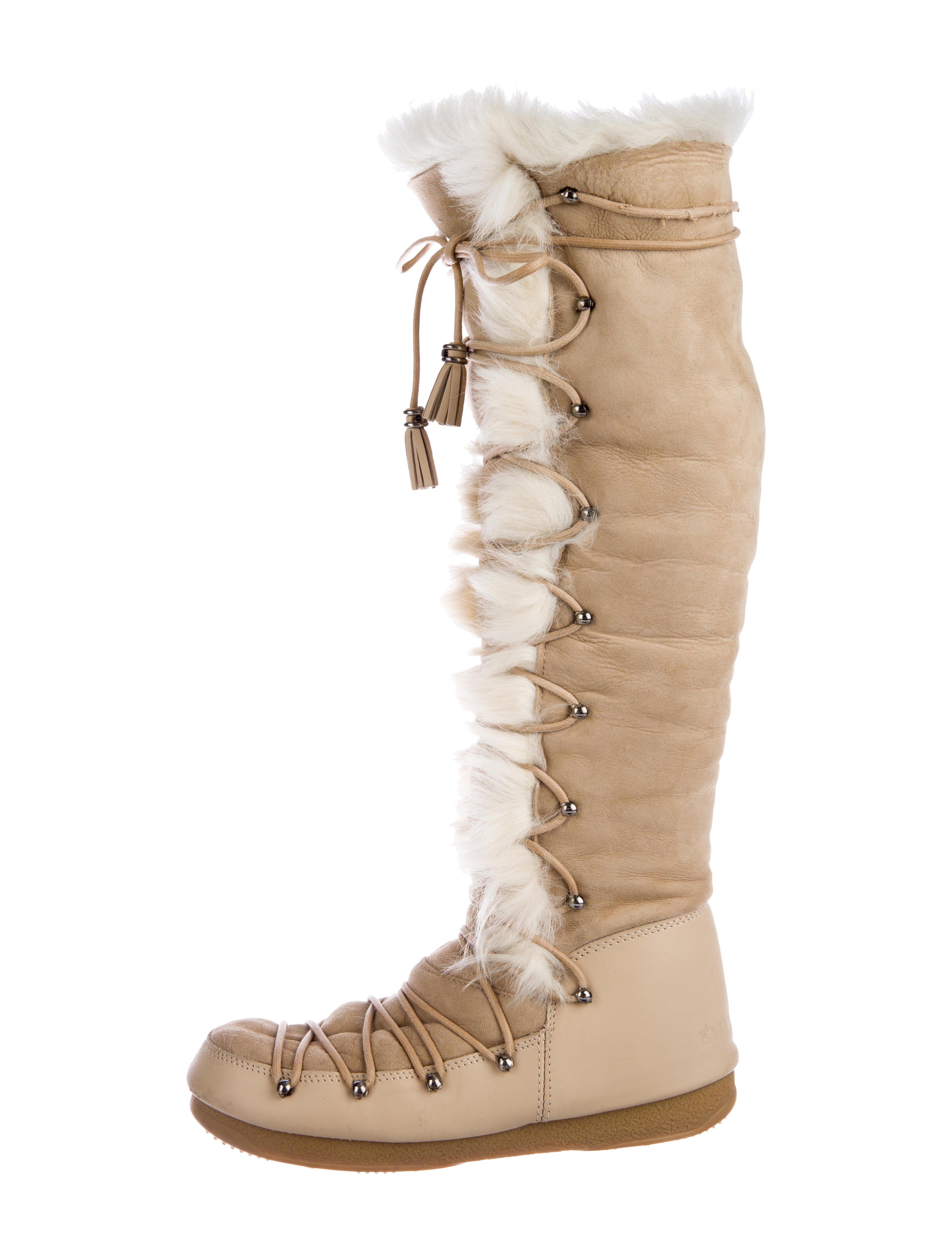 Emilio Pucci Shearling Knee-High Snow Boots buy cheap online clearance shop 2014 newest for sale Huz7n5AF