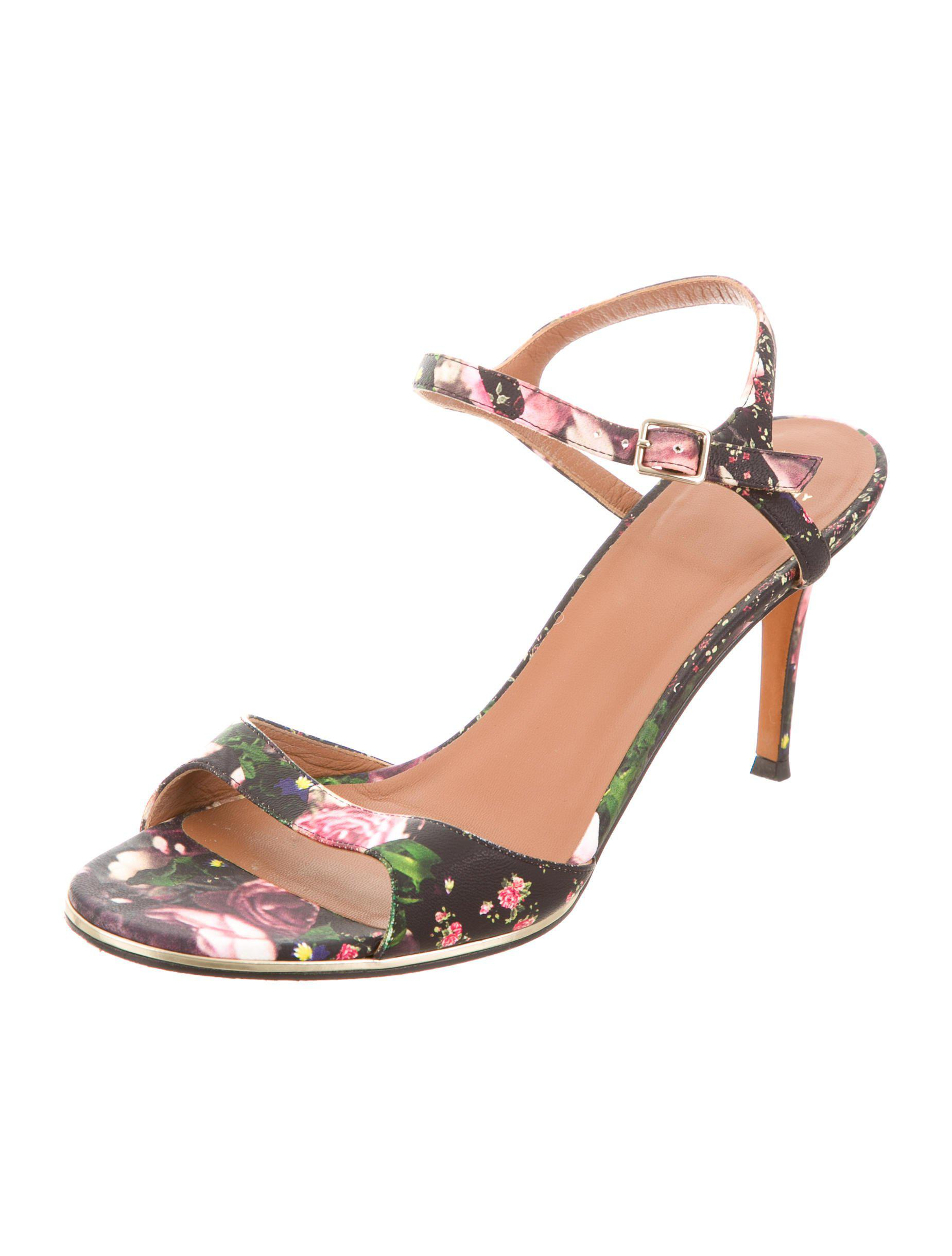 buy cheap ebay Givenchy Floral Print Ankle Strap Sandals discount 2014 6X3oaEd1