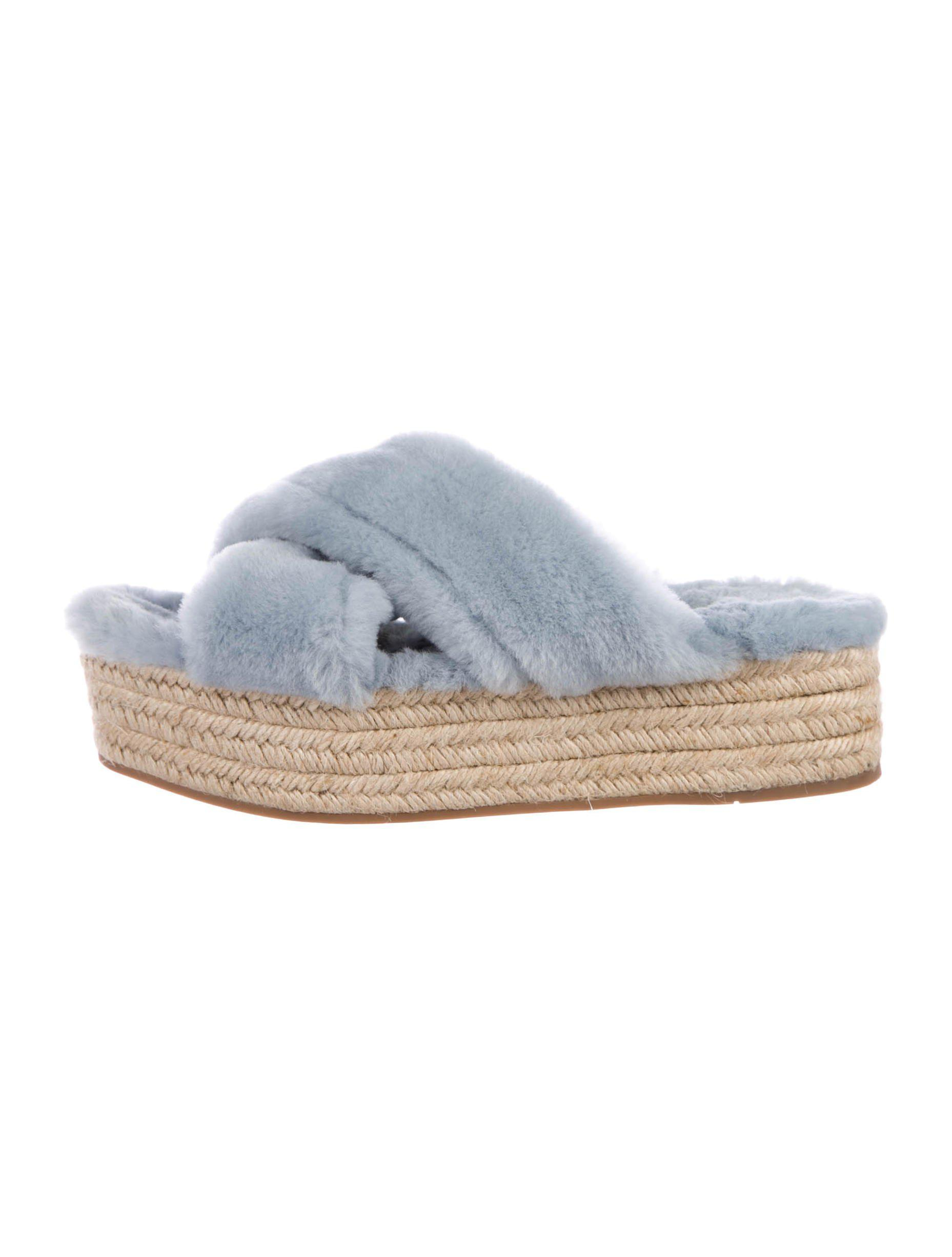 Miu Miu 2017 Shearling Espadrille Sandals authentic sale online buy cheap low price discount for sale footlocker great deals cheap online 3N2RgH44