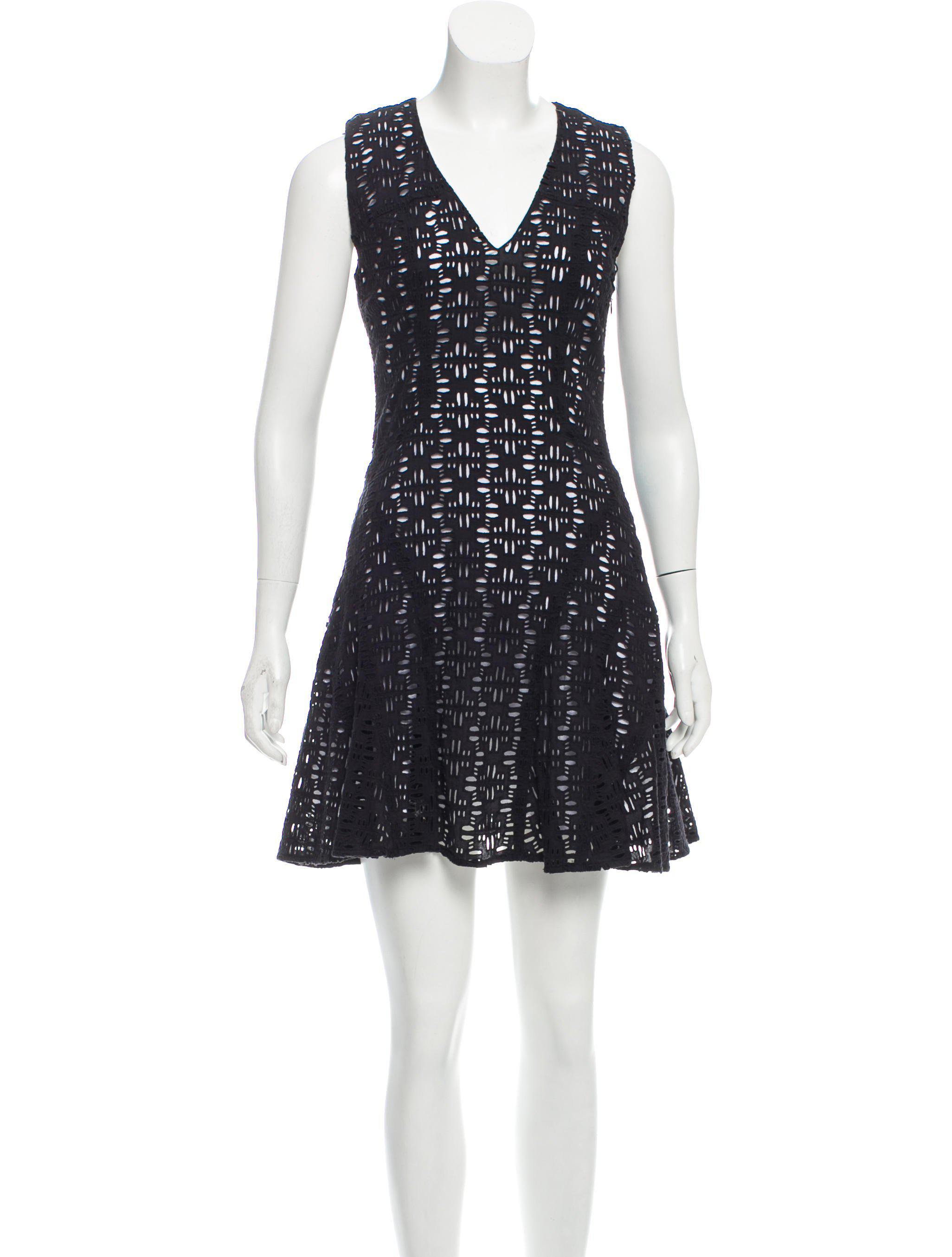 116780711 Lyst - 10 Crosby Derek Lam Sleeveless Mini Dress in Black
