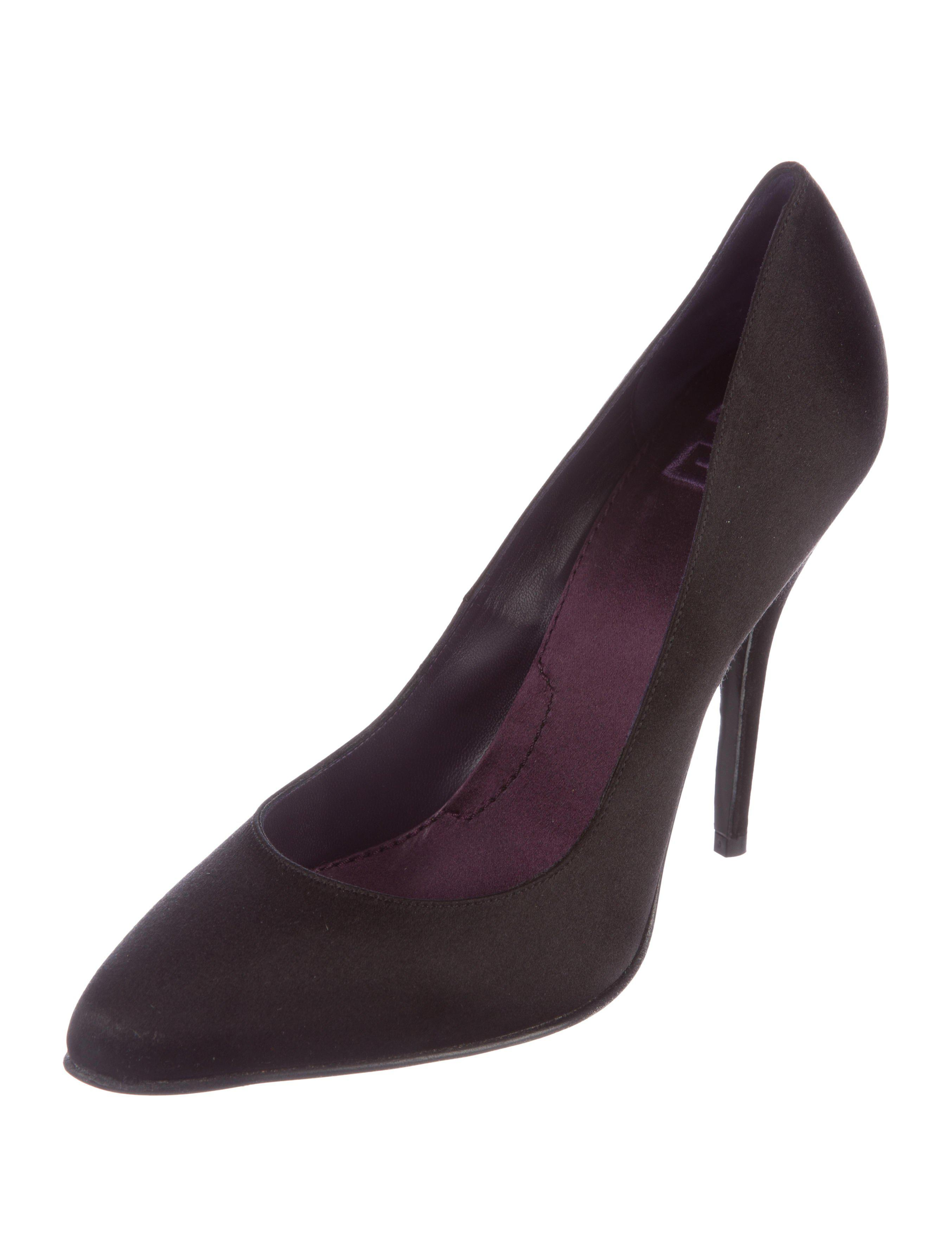 Givenchy Satin Round-Toe Pumps pay with visa sale online CmyX083
