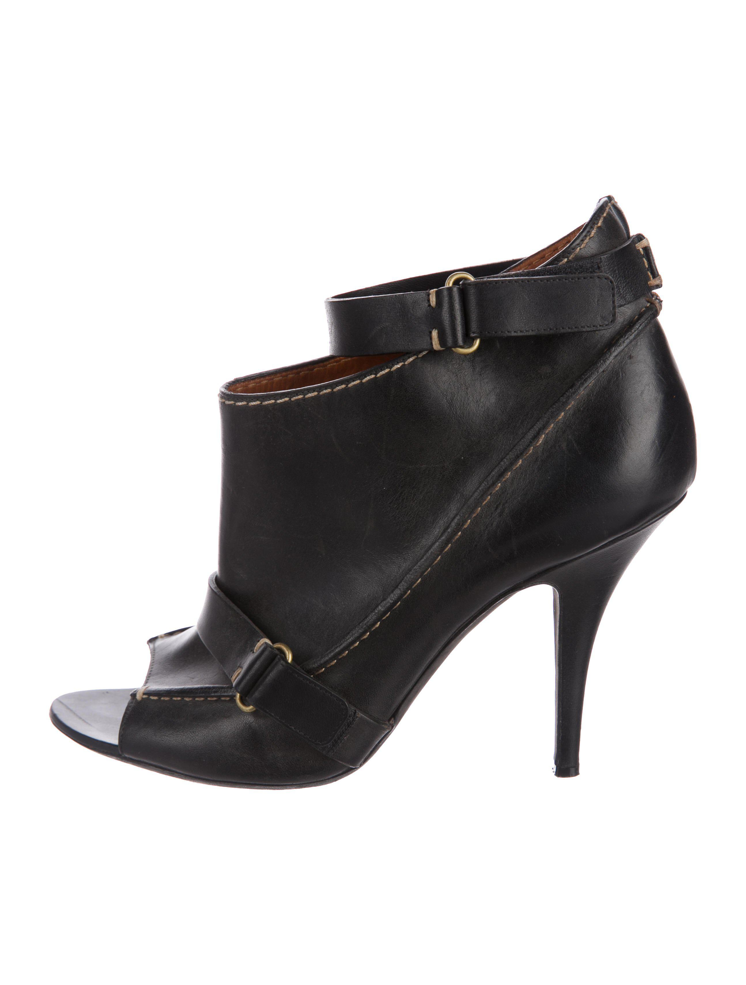 Givenchy PVC Peep-Toe Booties really sale online clearance ebay jHKIv109Sg