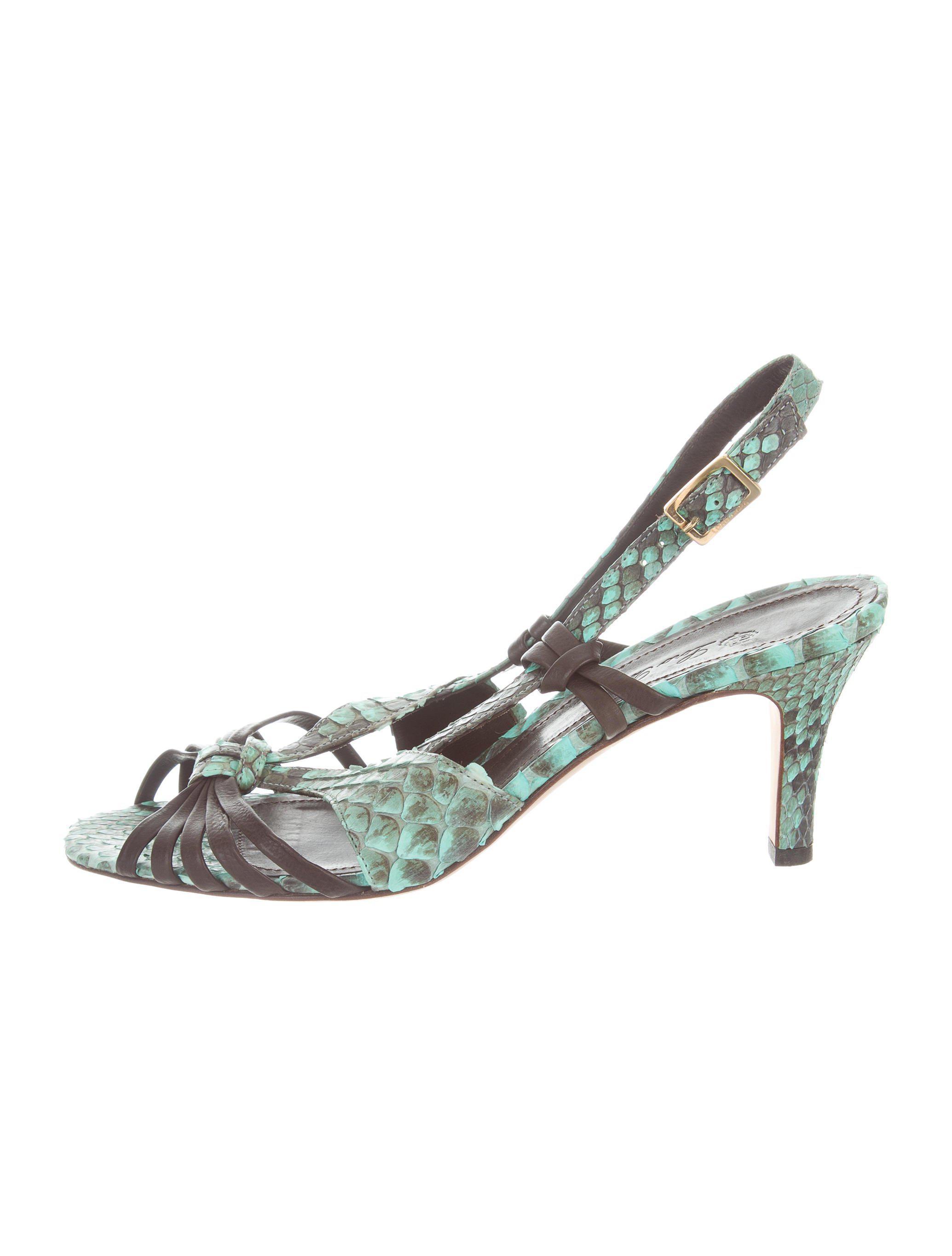 cheap sale official buy cheap how much Loro Piana Python Multistrap Sandals 1zTJTx