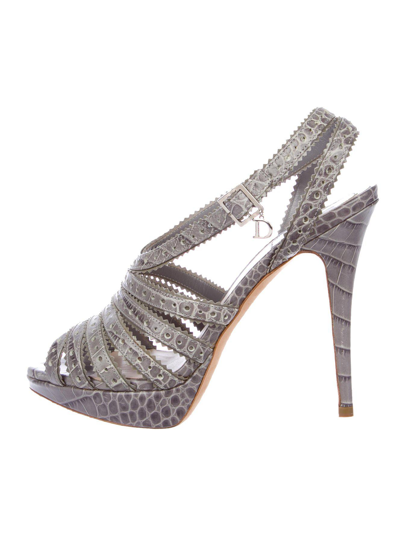 Christian Dior Embossed Multistrap Sandals outlet best place 3F5mHJ