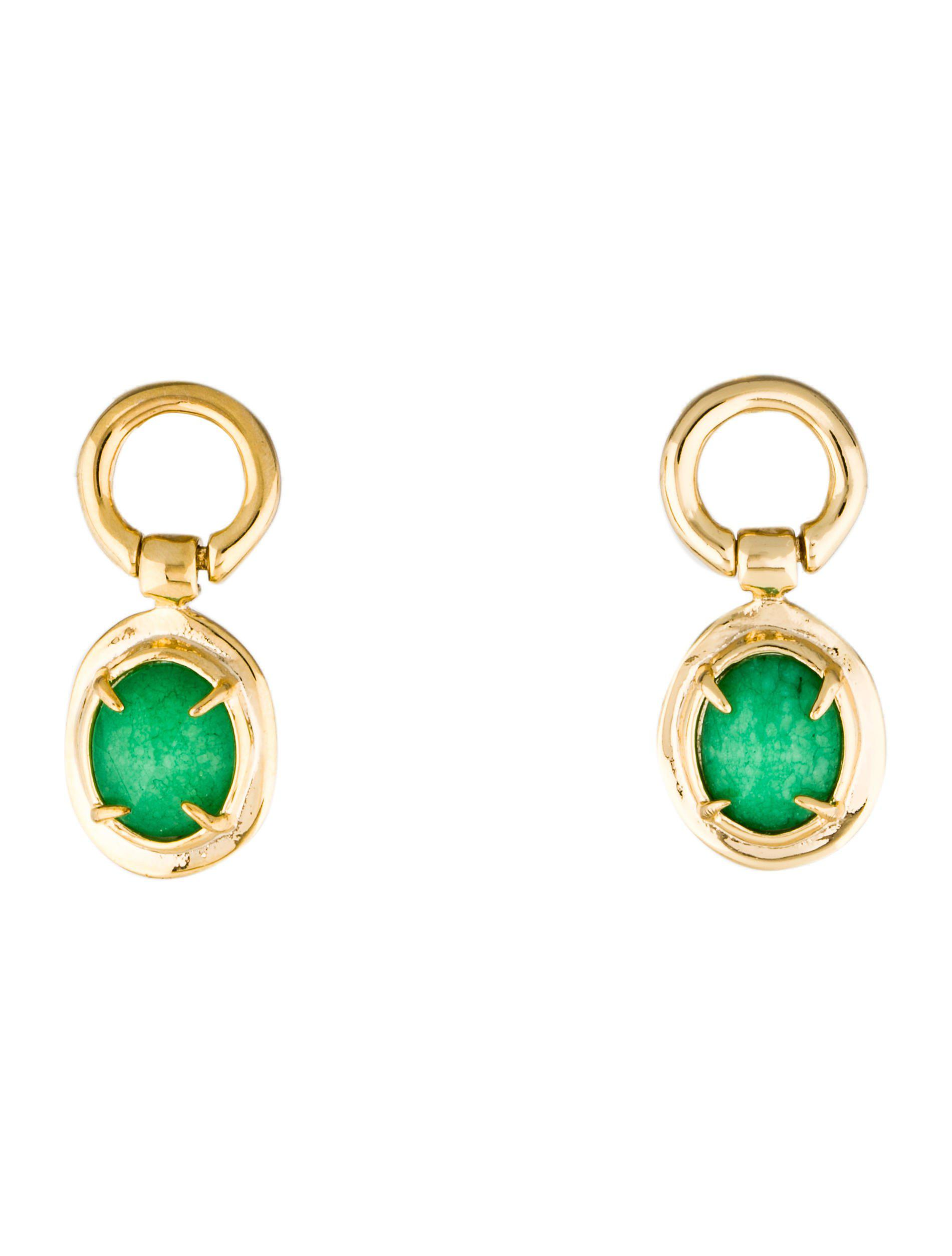 Lyst Alexis Bittar Swinging Stone Post Earrings Gold in Metallic