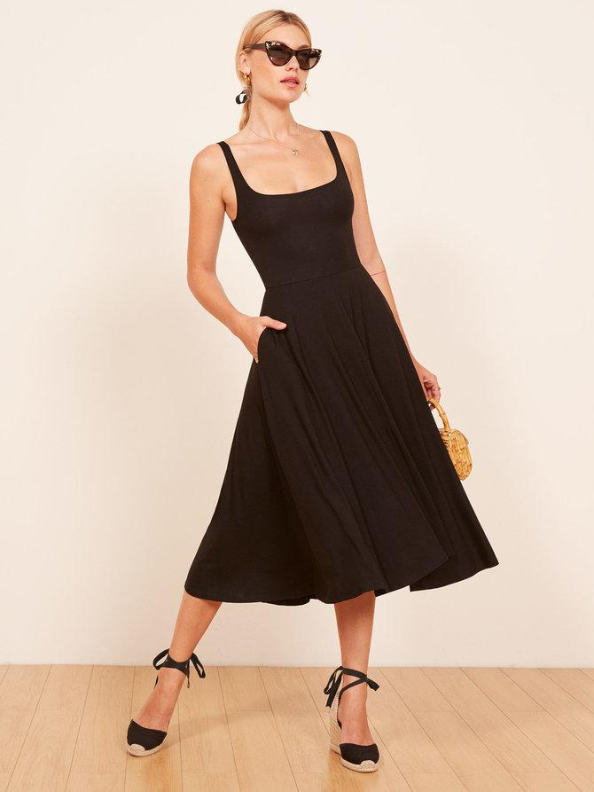 Image result for reformation rou dress in black