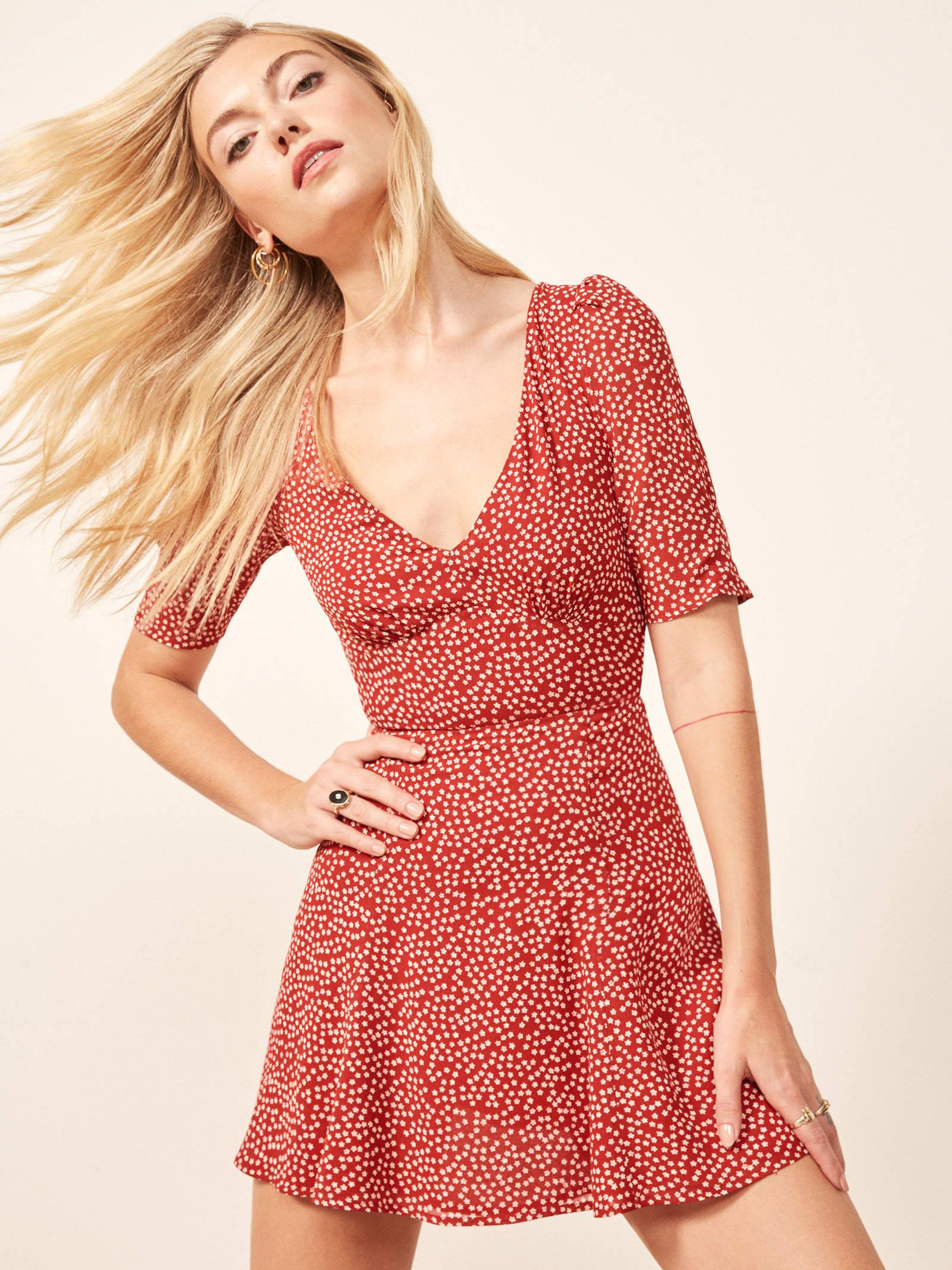3074ac8bf8 Reformation Marylou Dress in Red - Lyst