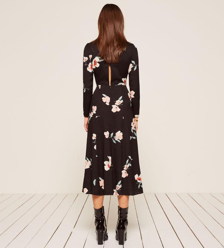 ad6a9ea92bac Reformation Vanessa Dress in Black - Lyst