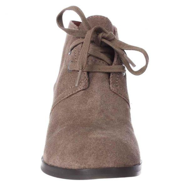 fcec43f61bf Lucky Brand - Brown Seleste Lace Up Wedge Booties - Lyst. View fullscreen