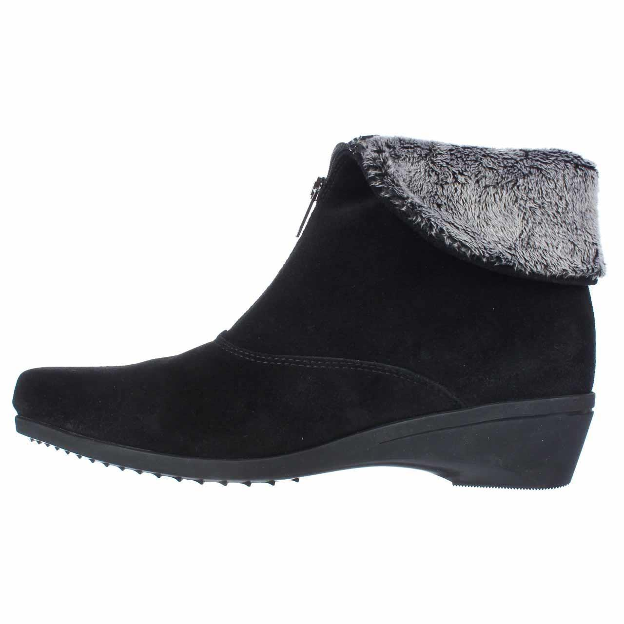 La Canadienne Evitta Wedge Ankle Boots In Black Lyst