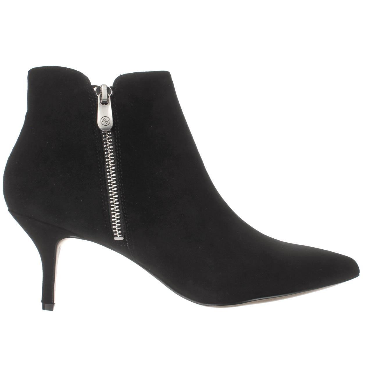 d0e450a2cf1 Lyst - Adrienne Vittadini Senji Double Zip Ankle Booties in Black