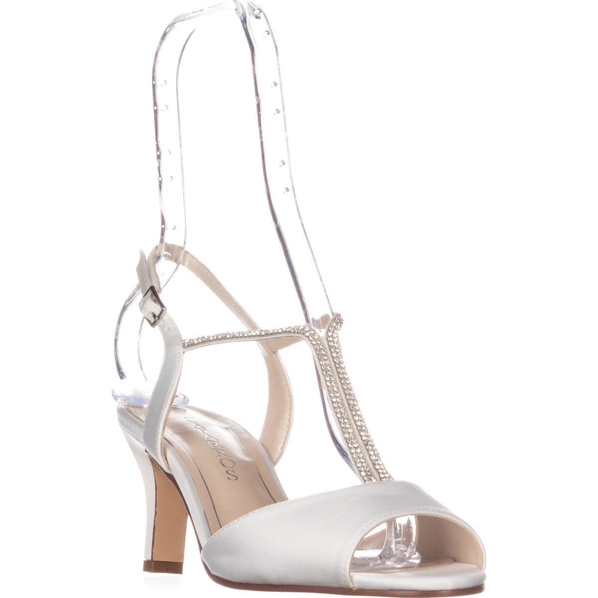 e2573d99f88 Lyst - Caparros Delicia Sparkle T-strap Peep Toe Dress Sandals in White