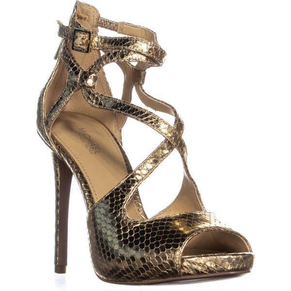 5d45e0555bc2 Michael Kors Michael Catia Dress Sandals in Metallic - Lyst