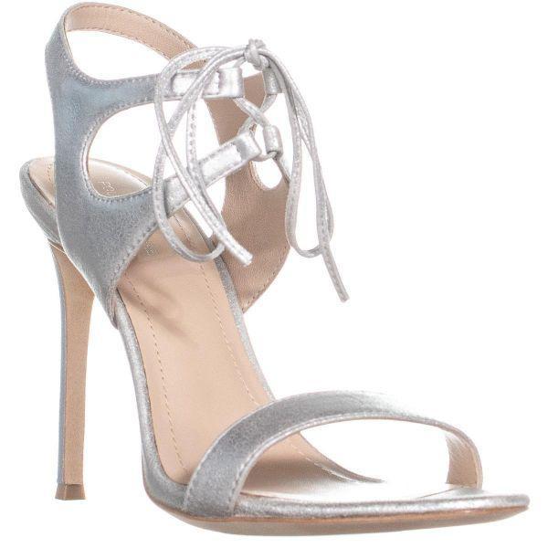 6029c500d65ba1 Lyst - Pour La Victoire Elisa Ankle Strap Sandals in Metallic