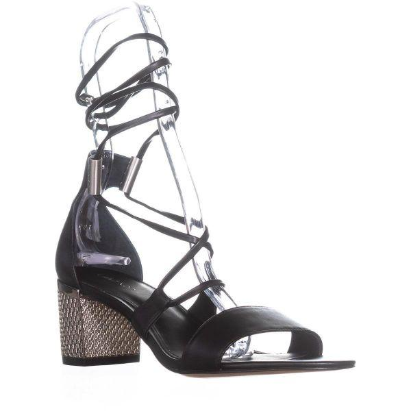 b2a62bc2982 Lyst - Calvin Klein Natania Lace-up Dress Sandals in Black - Save 12.5%