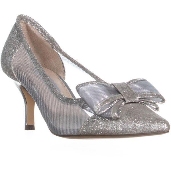 03dd264caad6e Nina Bianca Mesh Pointed Toe Kitten Heels in White - Lyst