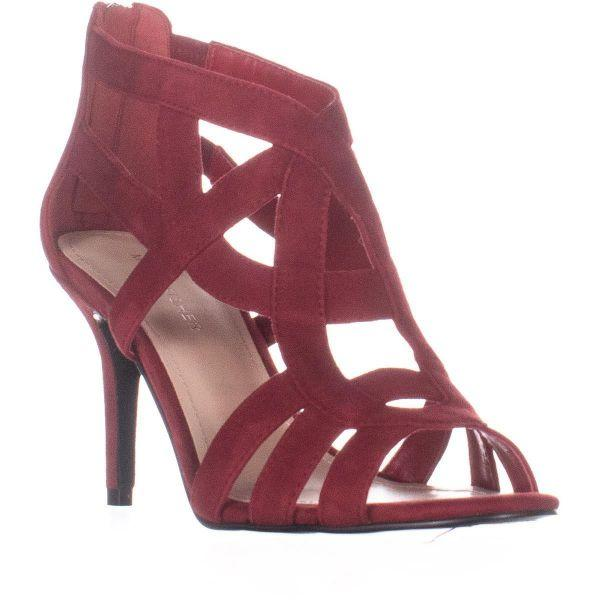 89ece582d9b4 Lyst - Marc Fisher Nala Strappy Sandals in Red