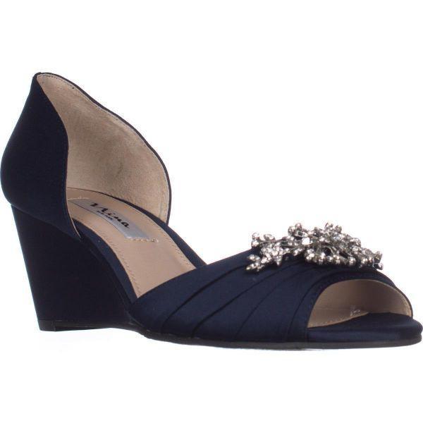 dfaf52c9507 Lyst - Nina Emiko Dress Wedge Sandals in Blue