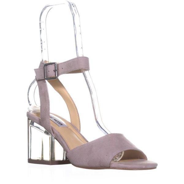 8933a93f7b9 Steve Madden Debbie Heeled Sandals in Gray - Lyst
