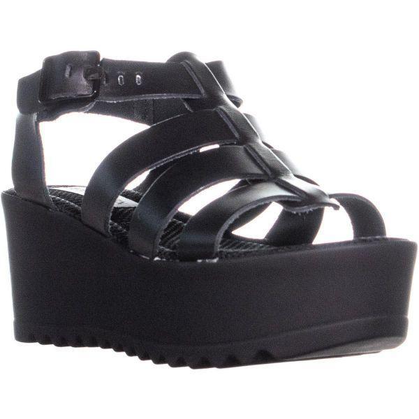0b61e7fbf2d5 Lyst - Steve Madden Strangld Casual Platform Sandals in Black