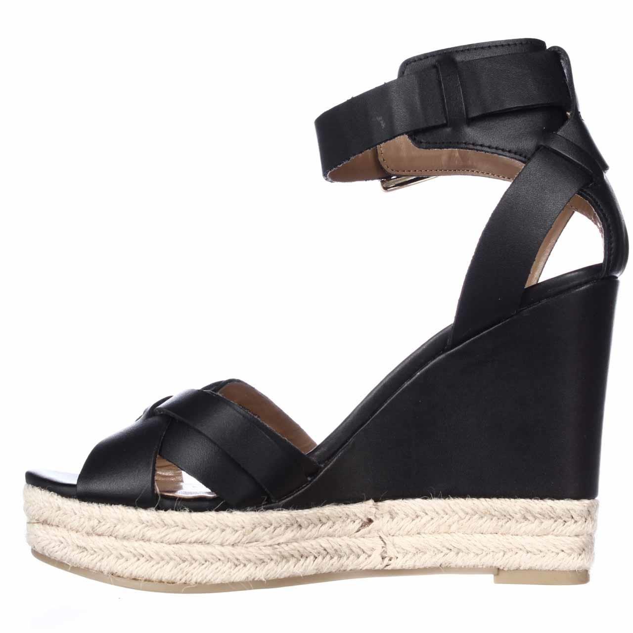 tommy hilfiger velvet espadrille wedge sandals in black lyst. Black Bedroom Furniture Sets. Home Design Ideas