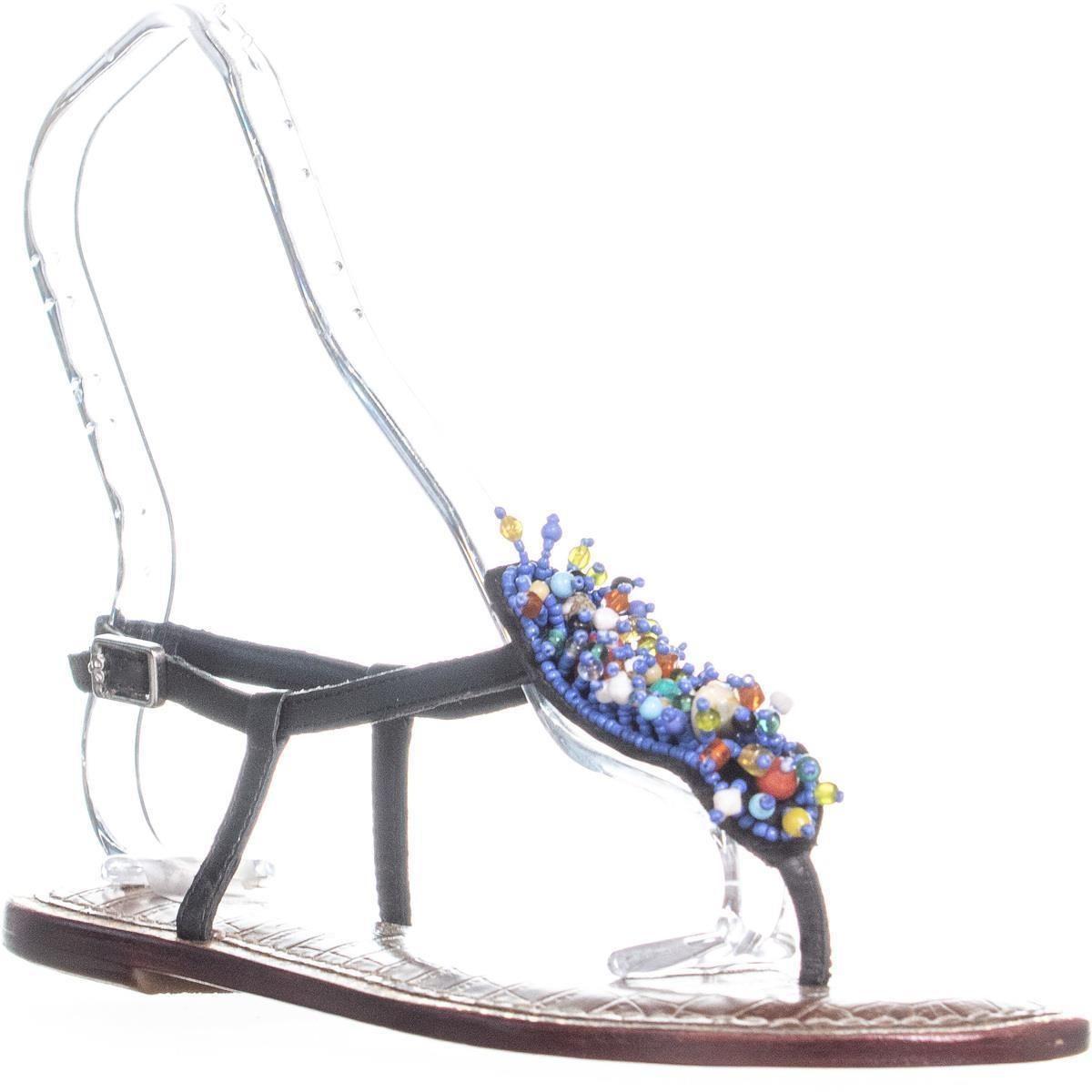 5c931ebb1355 Sam Edelman Gabrielle Seashell Flat Sandals in Blue - Save 10% - Lyst