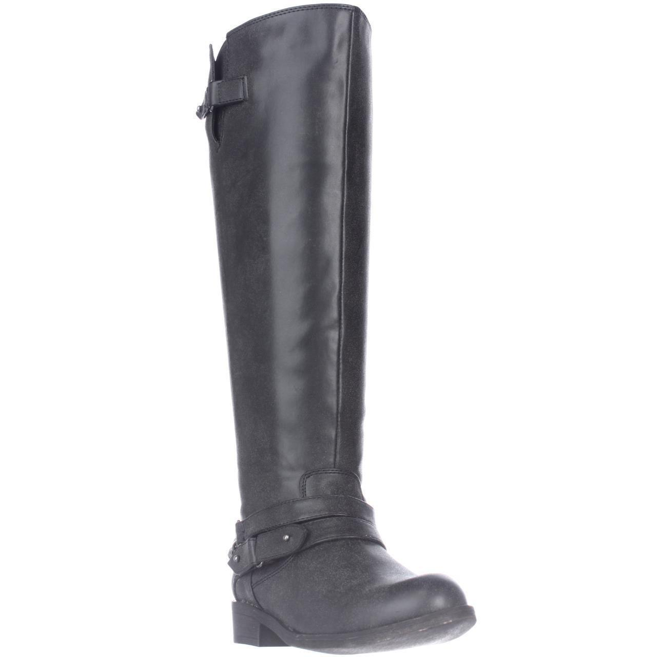 7e654a5a359c Lyst - Madden Girl Canyon Wide Calf Riding Boots, Black in Black