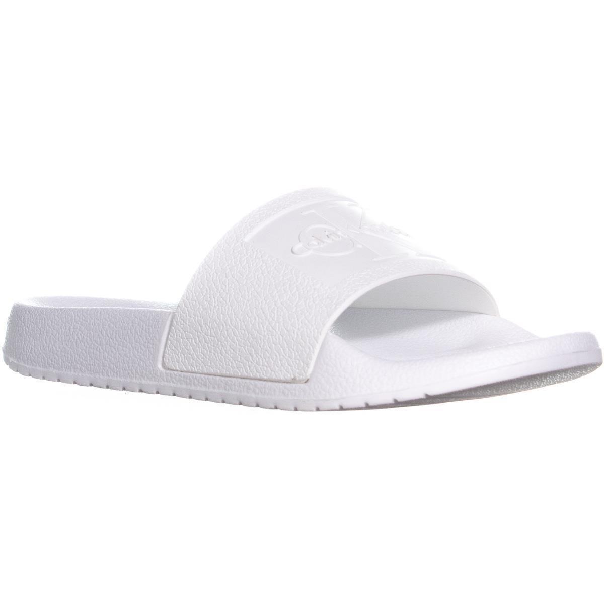 3cd23ceab3c8 Lyst - Calvin Klein Christie Jelly Logo Slide Sandals