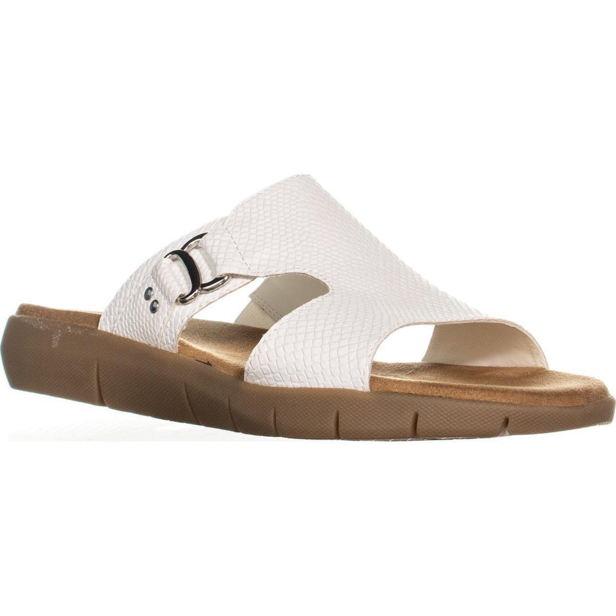 cec0ba3e77bb Lyst - Aerosoles New Wip Fisherman Memory Foam Slide Sandals in White