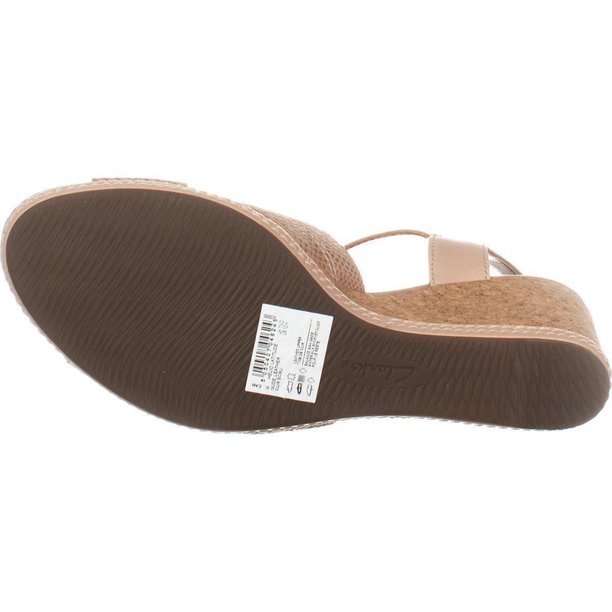 ad20aefe043 Lyst - Clarks Helio Latitude Comfort Wedge Sandals in Natural