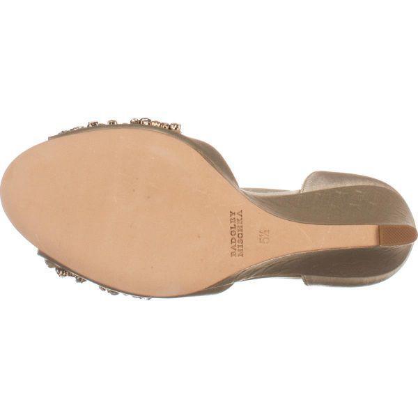 431c31bf59504f Lyst - Badgley Mischka Barbara Wedge Evening Sandals in White