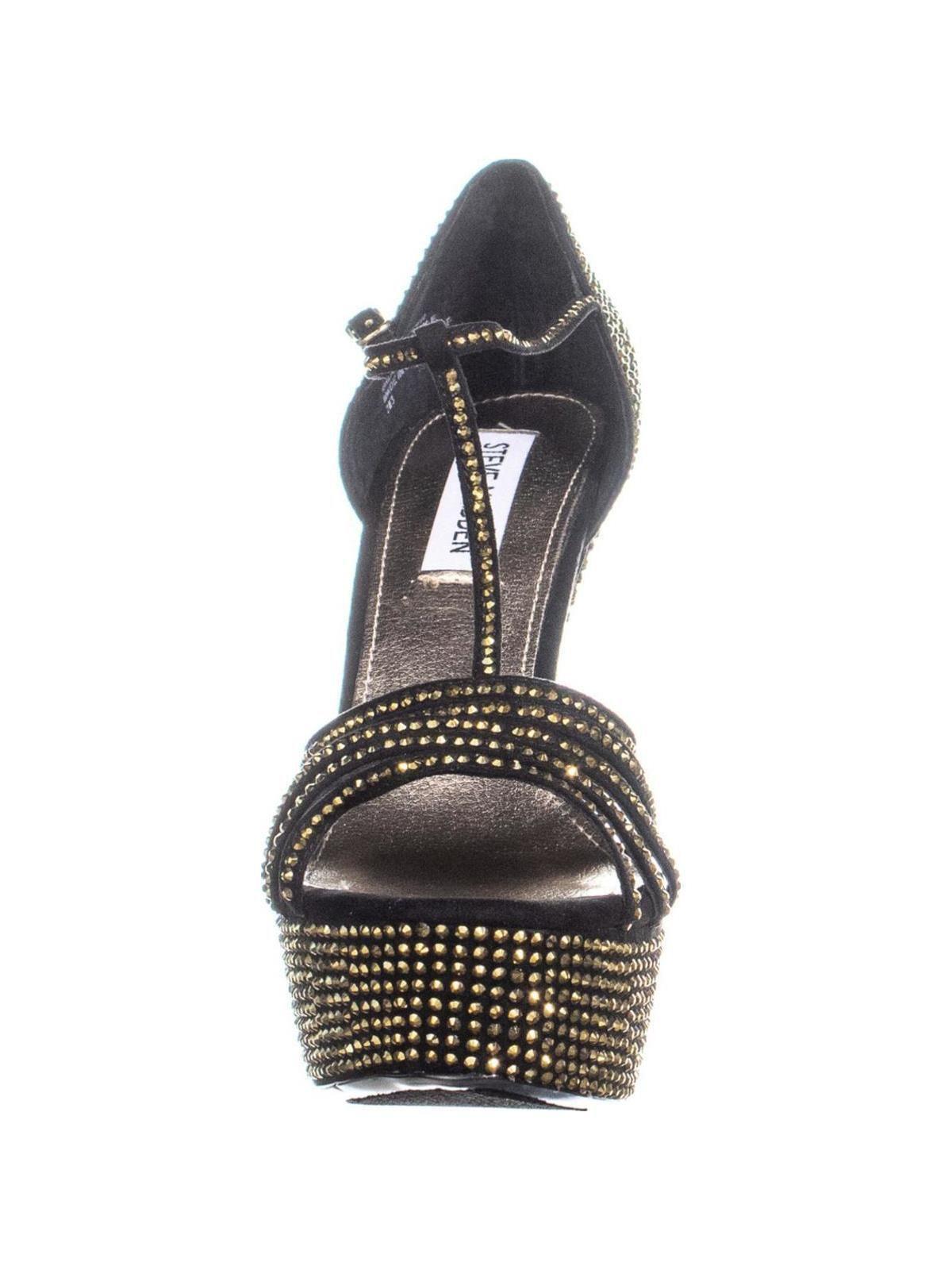 fe81a05a1b8 Lyst - Steve Madden Avory Us 9.5 Black Platform Sandals in Black - Save 13%
